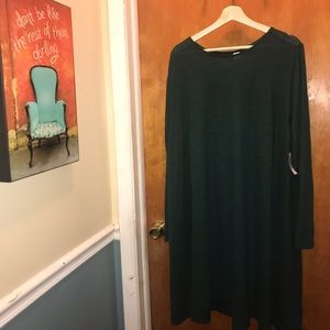 NWT 3xl Old Navy green Swing Hacci Jersey dress